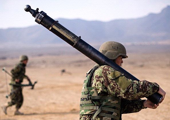Afghan National Army Soldiers Participate In Weapons Training