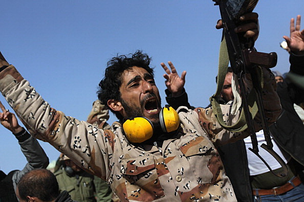 Opposition Rebels Battle Gaddafi Forces In Eastern Libya