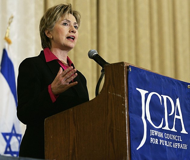 Hillary Clinton Speaks At Jewish Council For Public Affairs Meeting