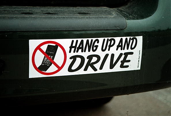 Hang Up Cell Phone Bumper Sticker