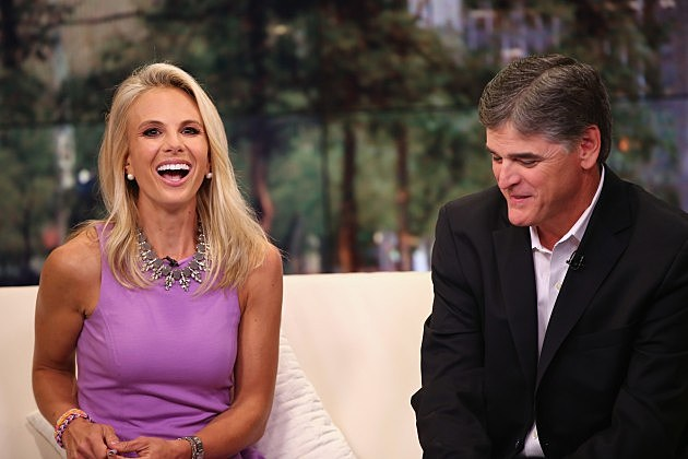 Photo of Sean Hannity & his friend   Elisabeth Hasselbeck - FOX Studios