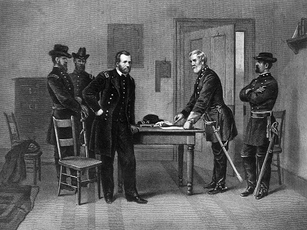 grant and lee meet at appomattox
