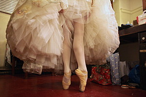 Dancers From The Scottish Ballet Prepare For The Christmas Season