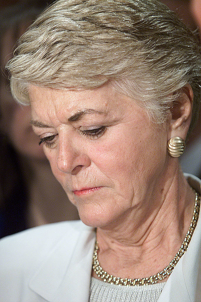 Geraldine Ferraro Attends Hearing on Capitol Hill