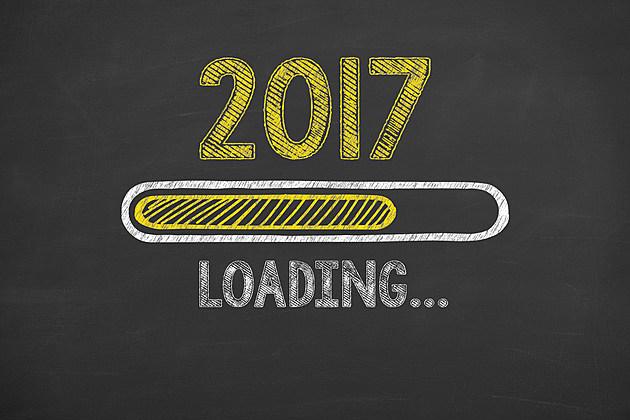 New Year 2017 Loading on Chalkboard