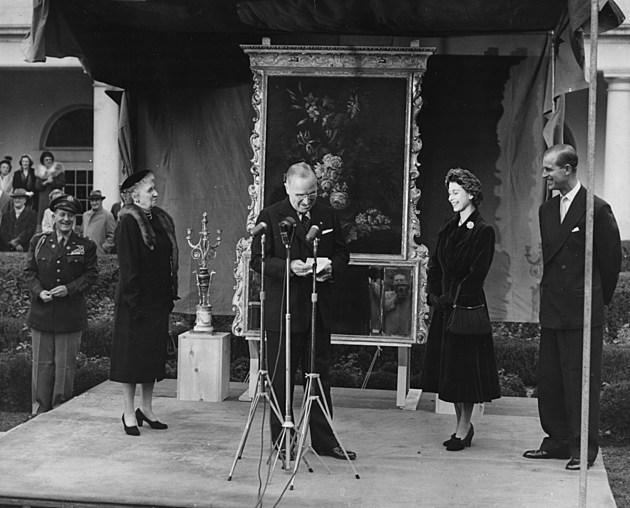 Princess Elizabeth, Prince Philip And Harry Truman