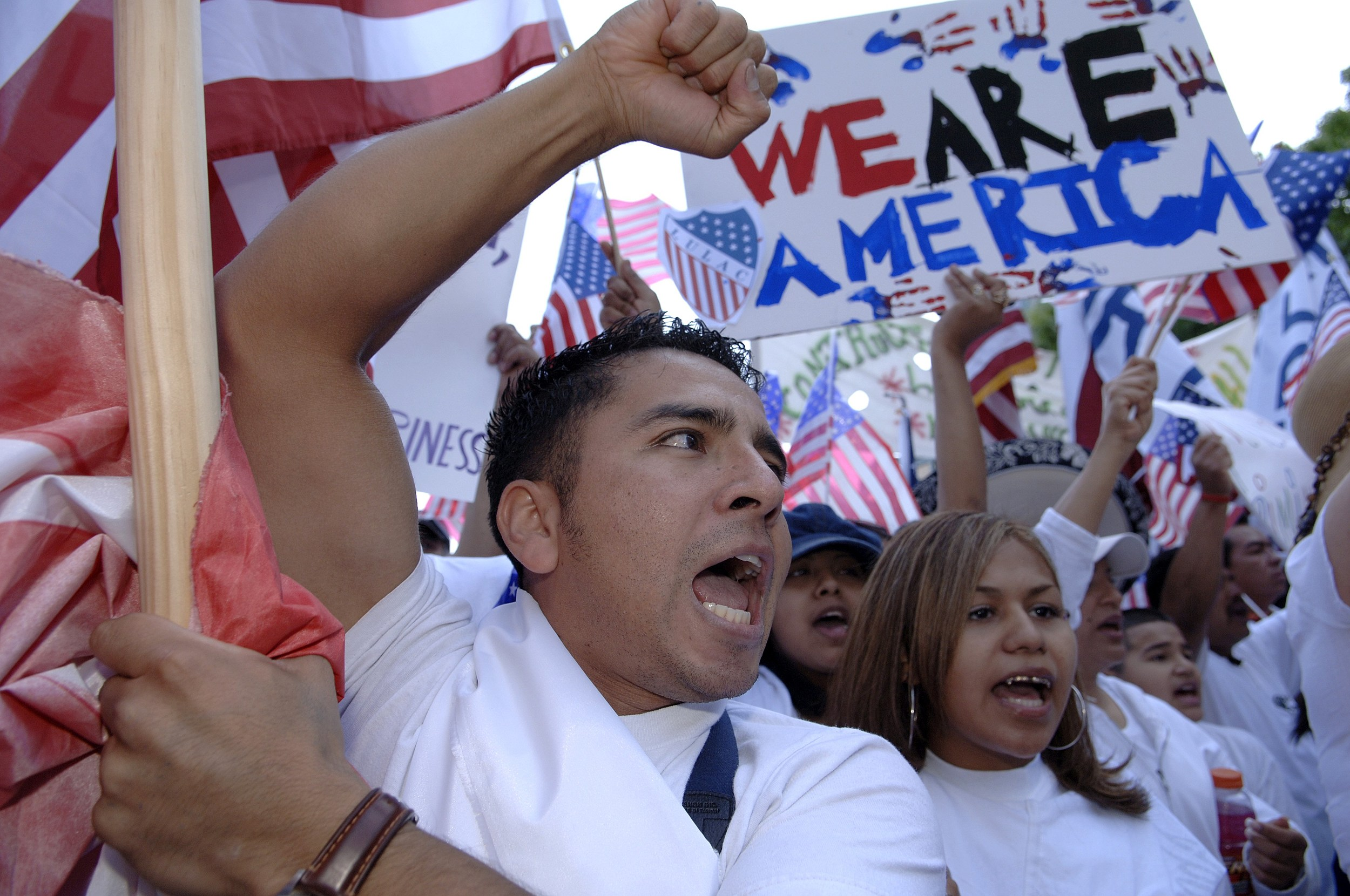 Marchers In Dallas Protest Proposed Immigration Reform